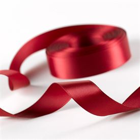 5/8 Scarlet Satin Ribbon Roll