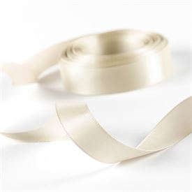 5/8 Ecru Satin Ribbon Roll
