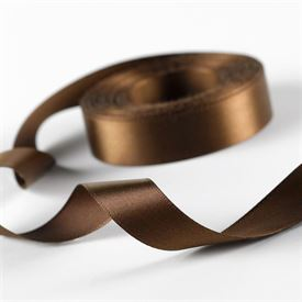 5/8 Brown Satin Ribbon Roll