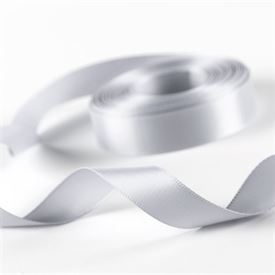 5/8 Silver Satin Ribbon Roll