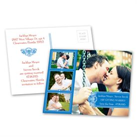 Photo Delight - Blue - Save the Date Postcard