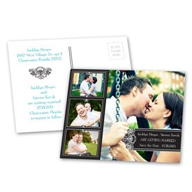 Photo Delight - Ebony - Save the Date Postcard
