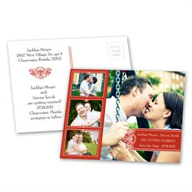 Photo Delight - Scarlet - Save the Date Postcard