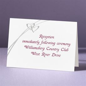 Love Struck - Reception Card