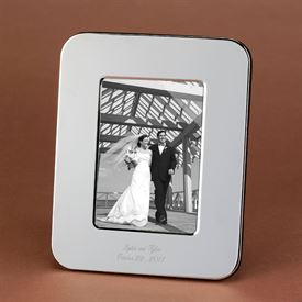 Vertical Silver-Plated Photo Frame