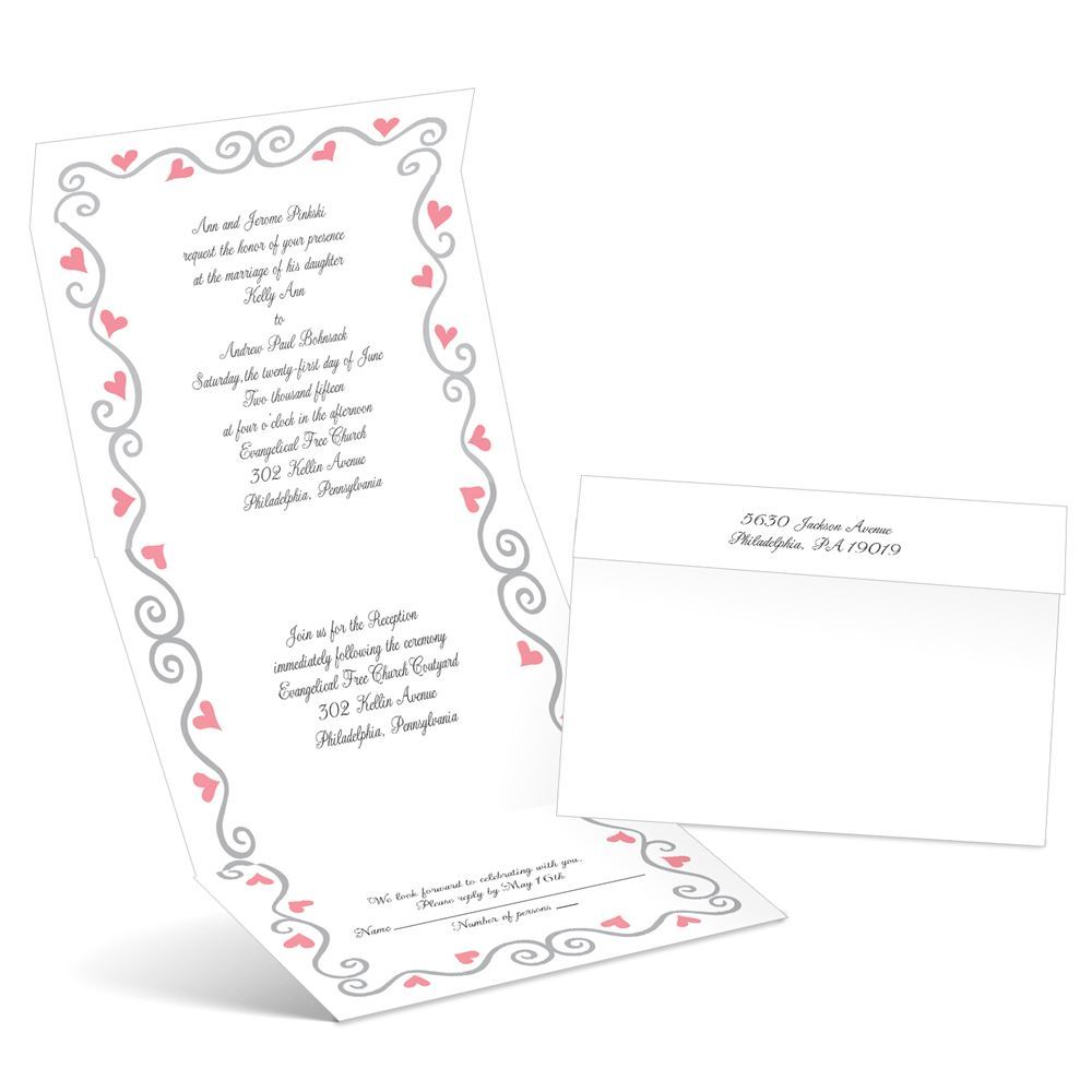 Whimsical Hearts Seal and Send Wedding Invitation | Ann\'s Bridal ...