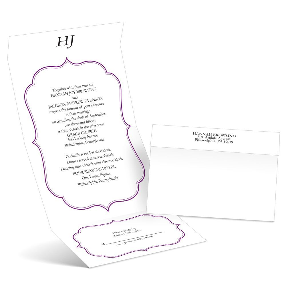 Graceful Frame Seal And Send Wedding Invitation