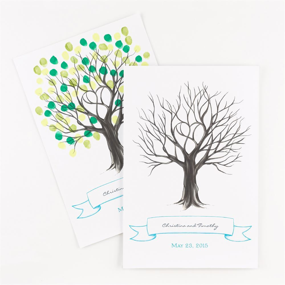 Thumbprint Tree Signature Poster Ann S Bridal Bargains