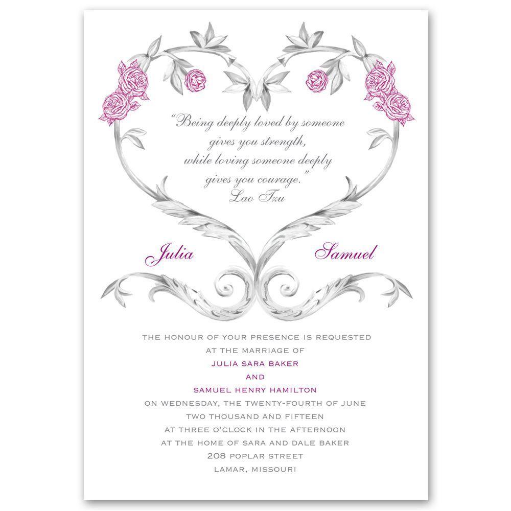 Fairy Tale Roses Invitation Ann S Bridal Bargains