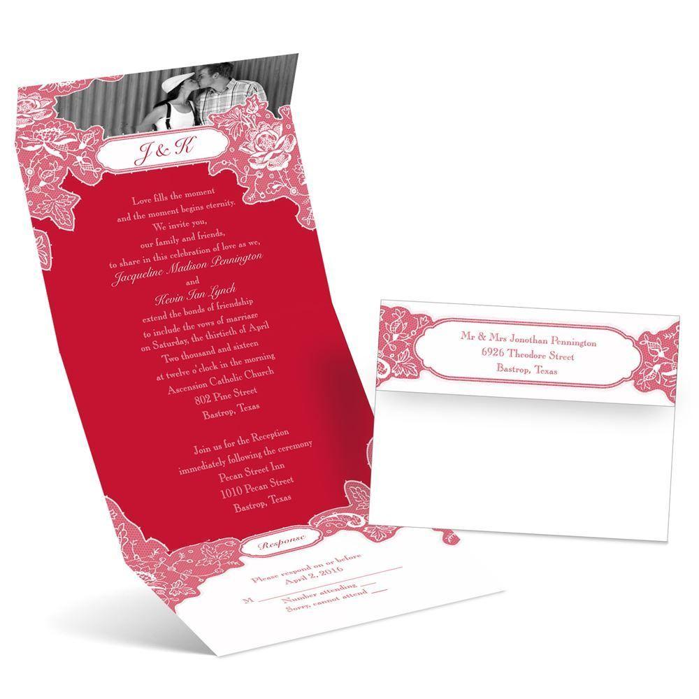 Romantic Details Photo Invitation   Ann\'s Bridal Bargains