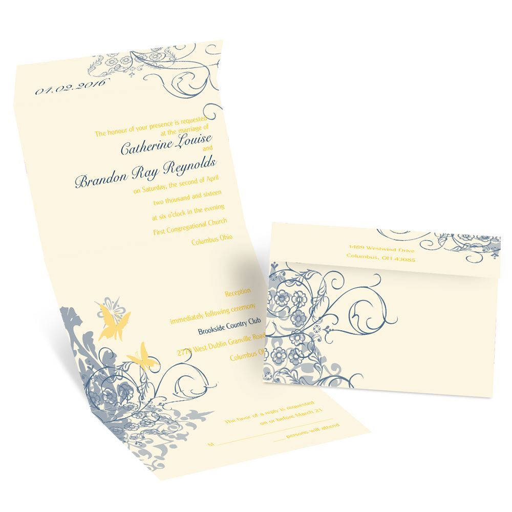 Butterflies Seal And Send Invitation
