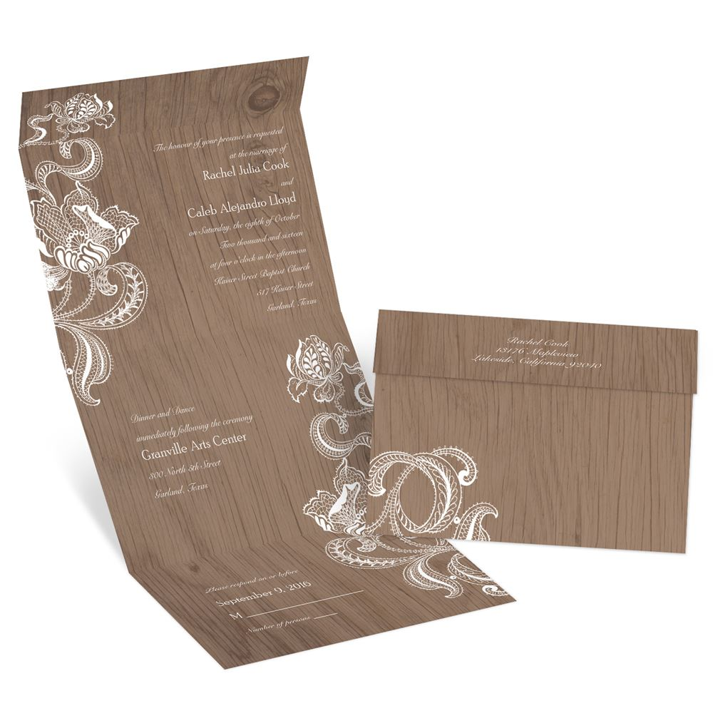 Cost Of Mailing Wedding Invitations: Lotus Sketch Seal And Send Invitation