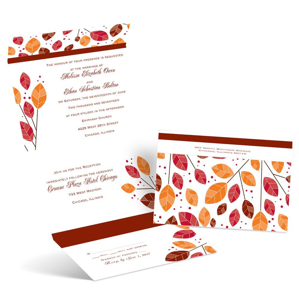 When Should Wedding Invites Be Sent: Modern Leaves Seal And Send Invitation