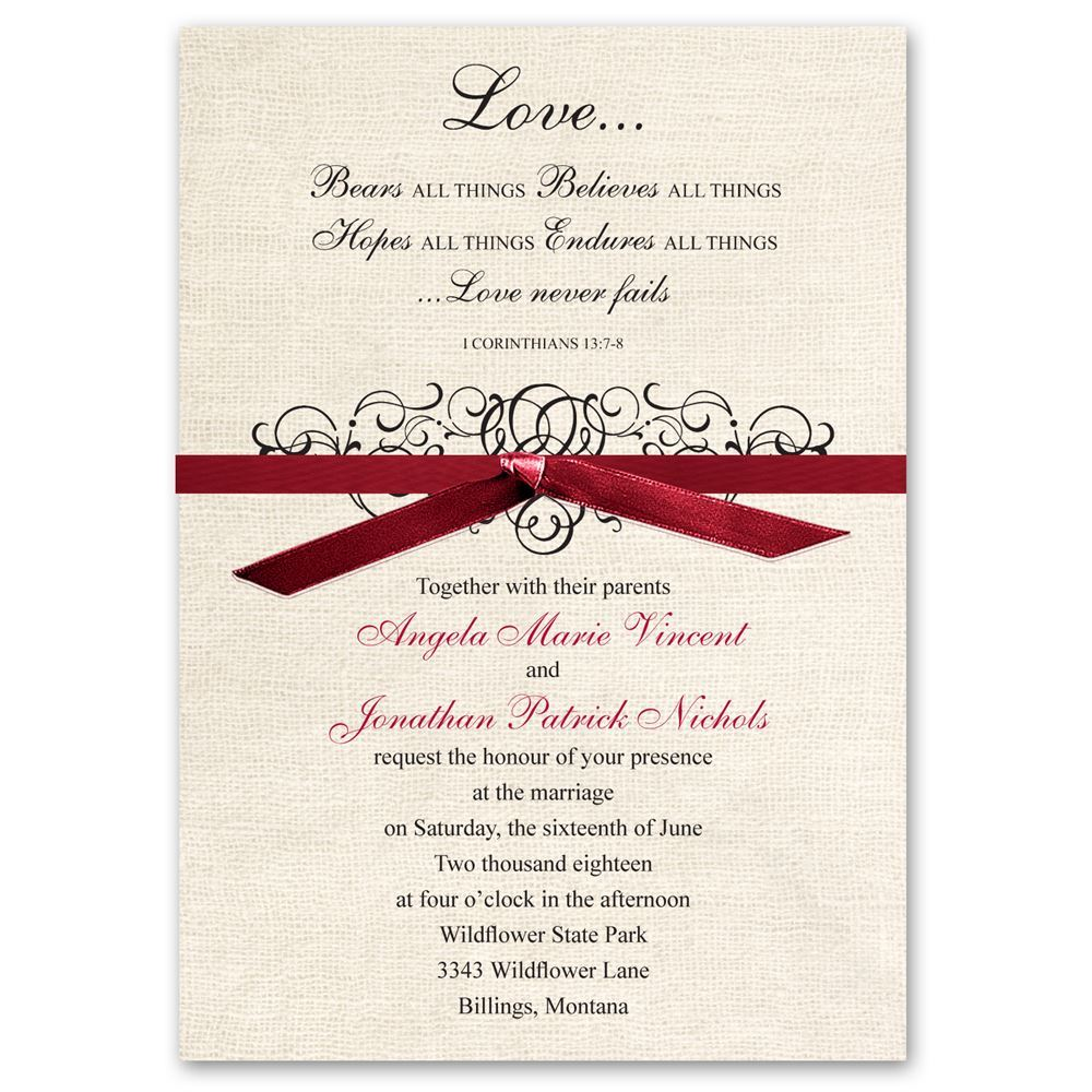 Rustic Love Invitation | Ann\'s Bridal Bargains