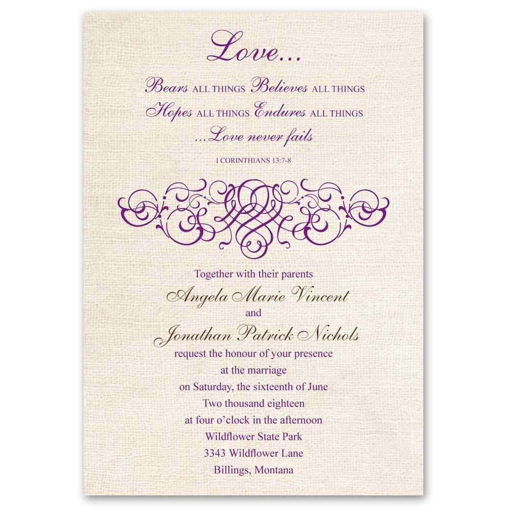Rustic Love Invitation Ann S Bridal Bargains