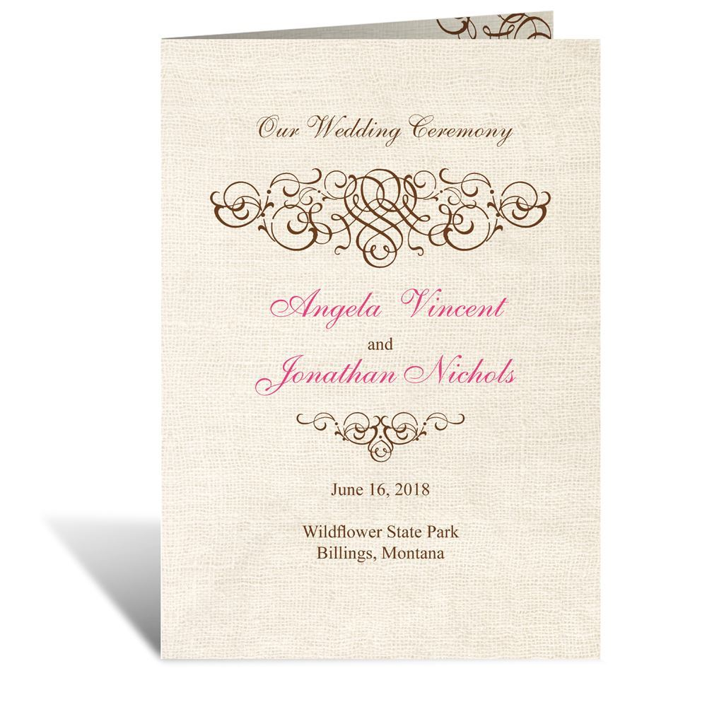 Rustic Love Wedding Program Ann S Bridal Bargains