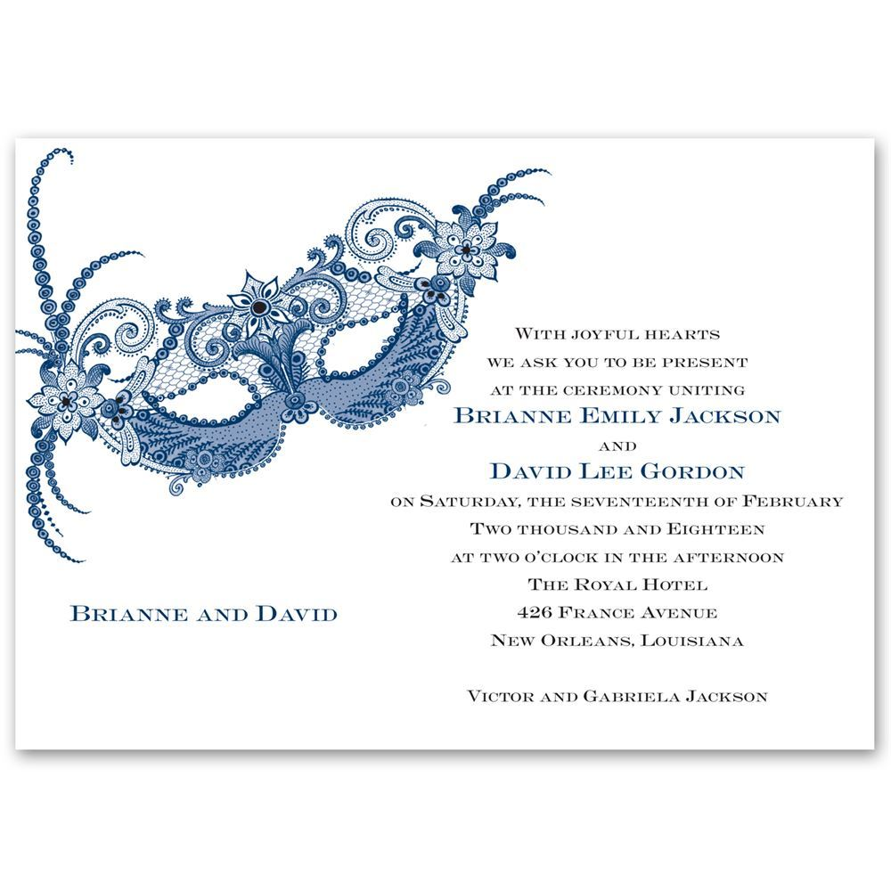 Masquerade Invitation | Ann's Bridal Bargains