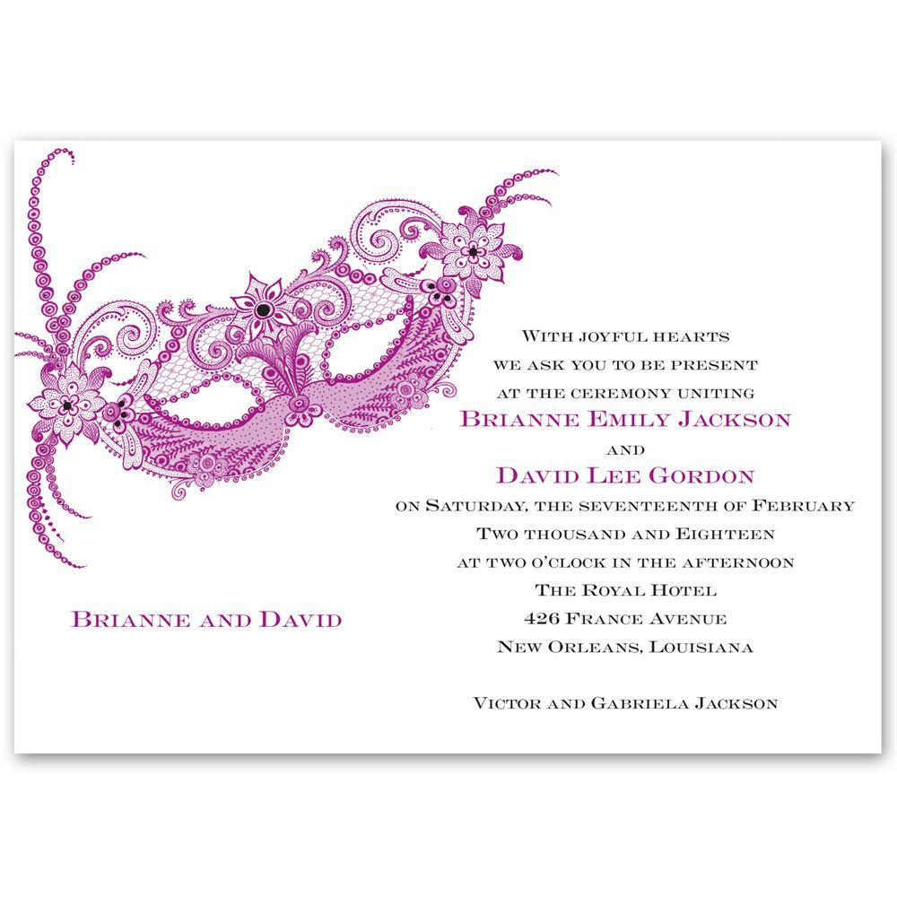 masquerade invitation | ann's bridal bargains, Wedding invitations