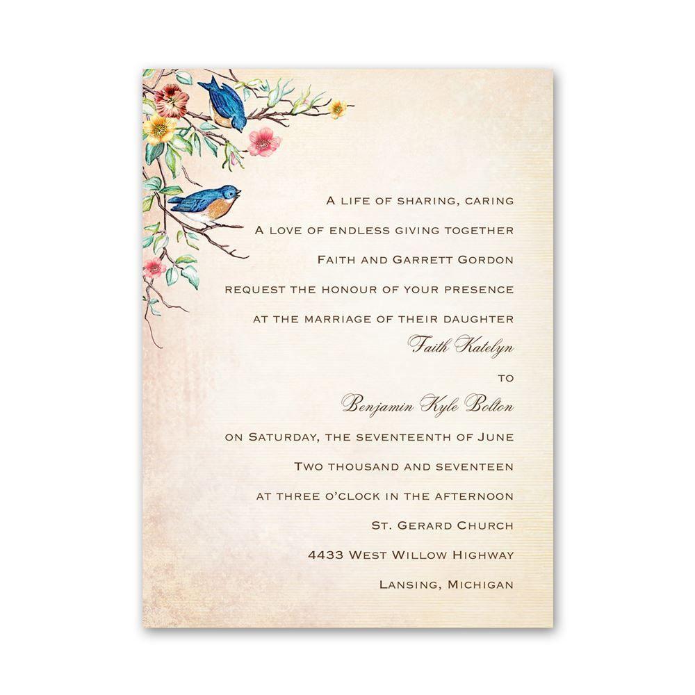 bluebird melody petite invitation