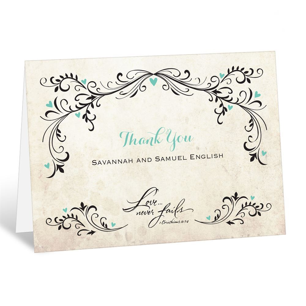 After Wedding Thank You Messages: Blossoming Love Thank You Card