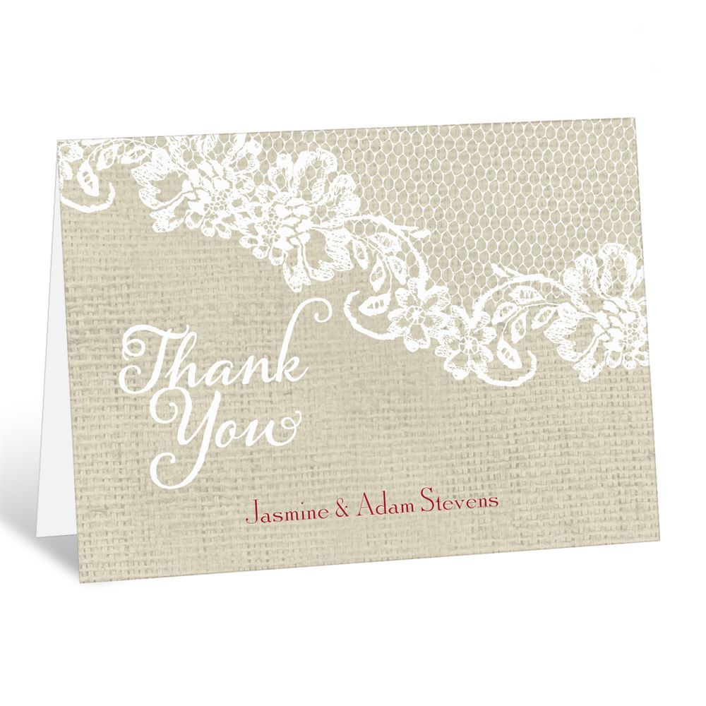 Country Details Thank You Card Ann S Bridal Bargains