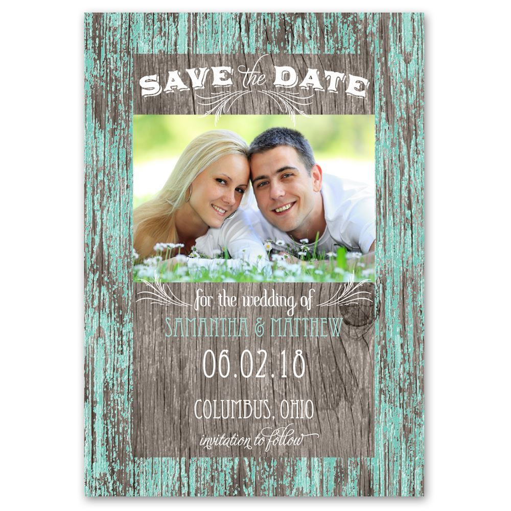 Rustic Charm Save The Date Card