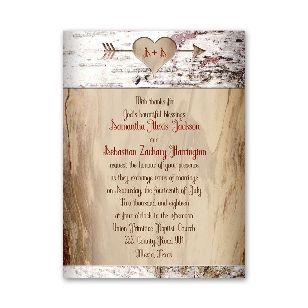 Aged Birch Petite Invitation Ann S Bridal Bargains