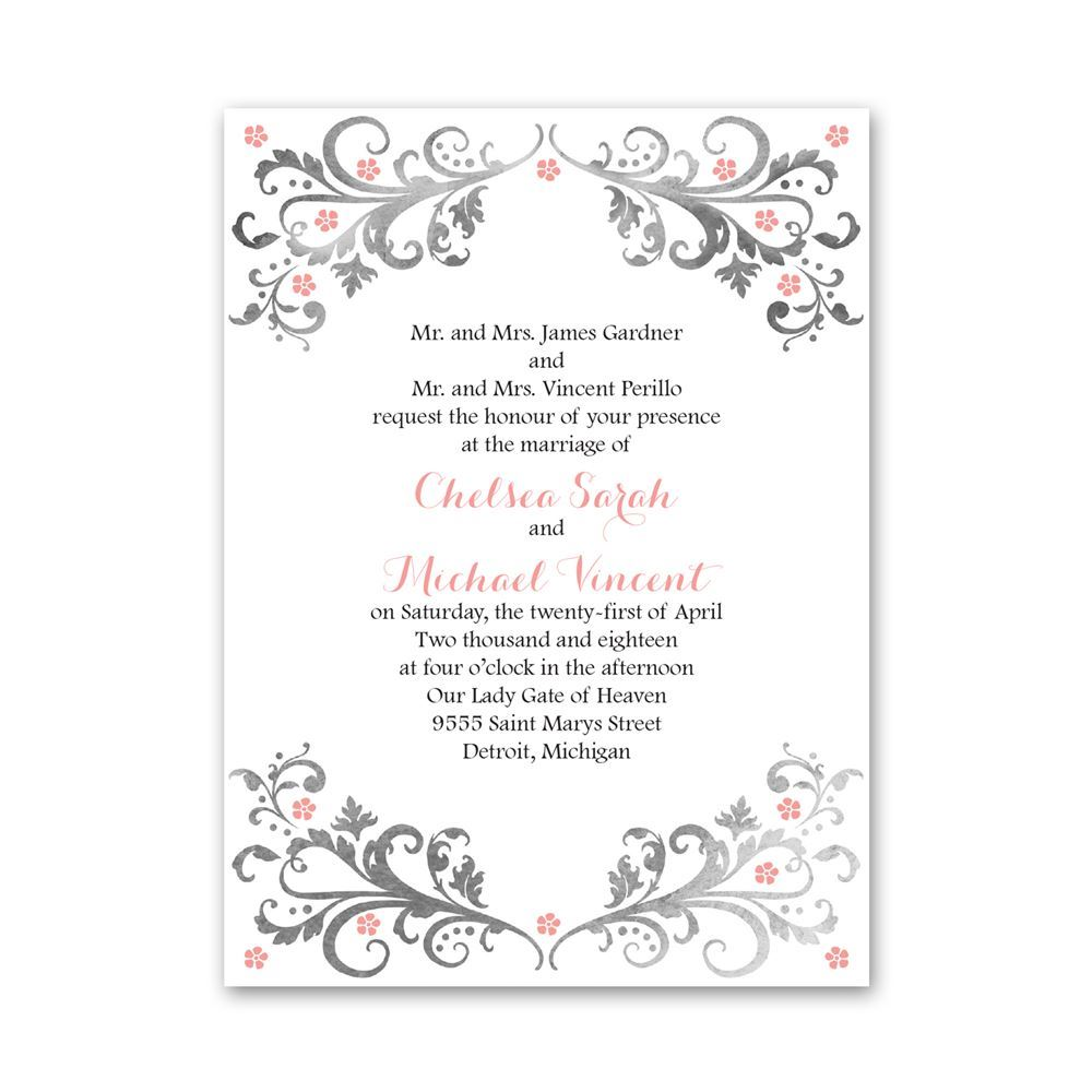 Flowers And Filigree Petite Invitation Ann S Bridal Bargains