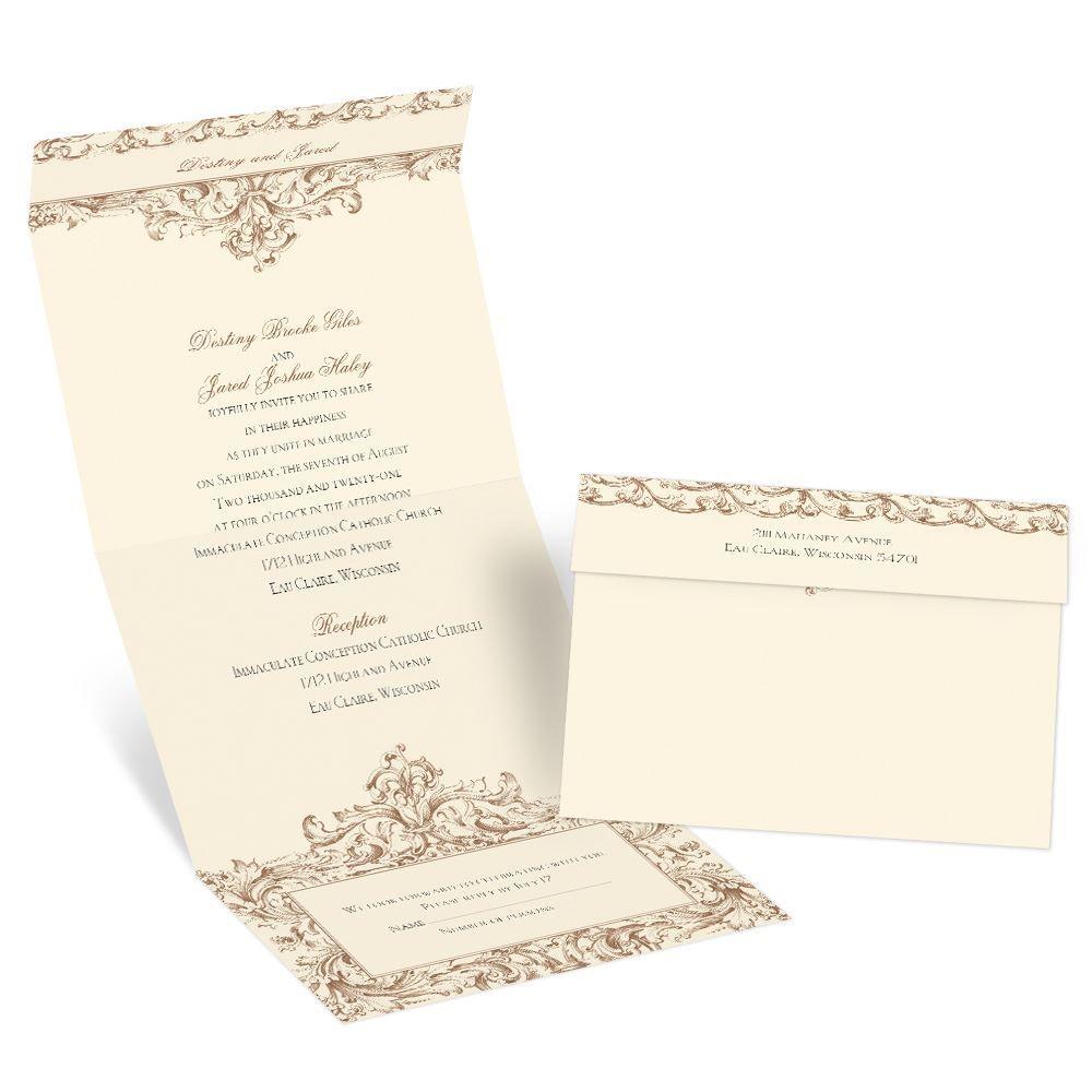 Victorian Romance Seal And Send Invitation
