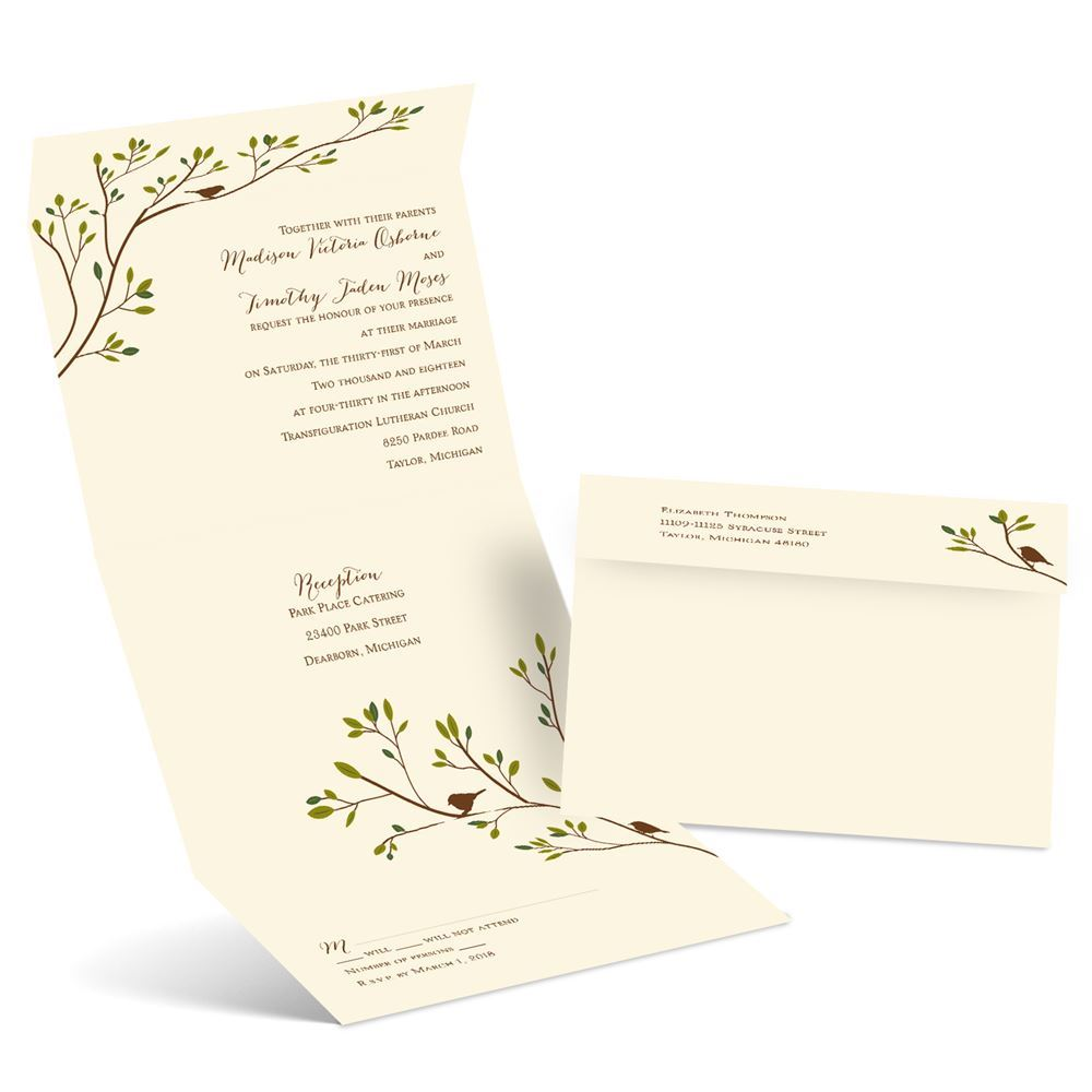 Spring Birds Seal And Send Invitation Ann S Bridal Bargains