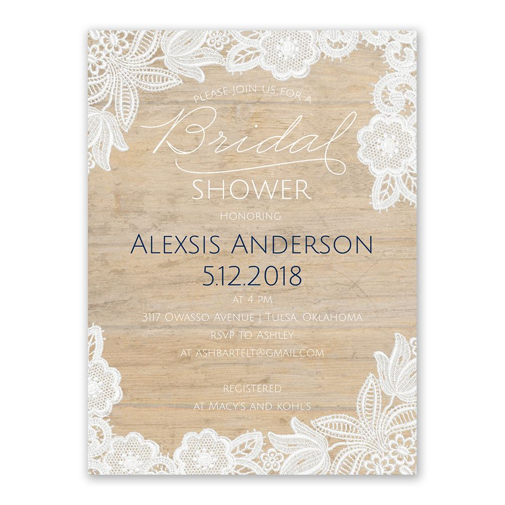 Vintage Country Bridal Shower Invitation