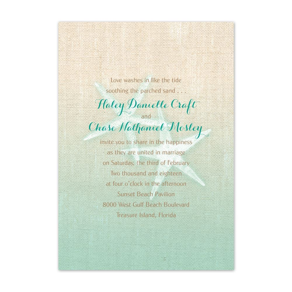 starfish and burlap invitation ann s bridal bargains