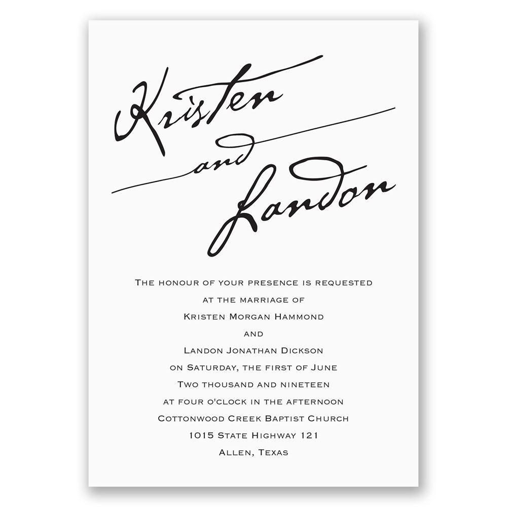 Elegant script invitation with free response postcard anns elegant script invitation with free response postcard stopboris Images