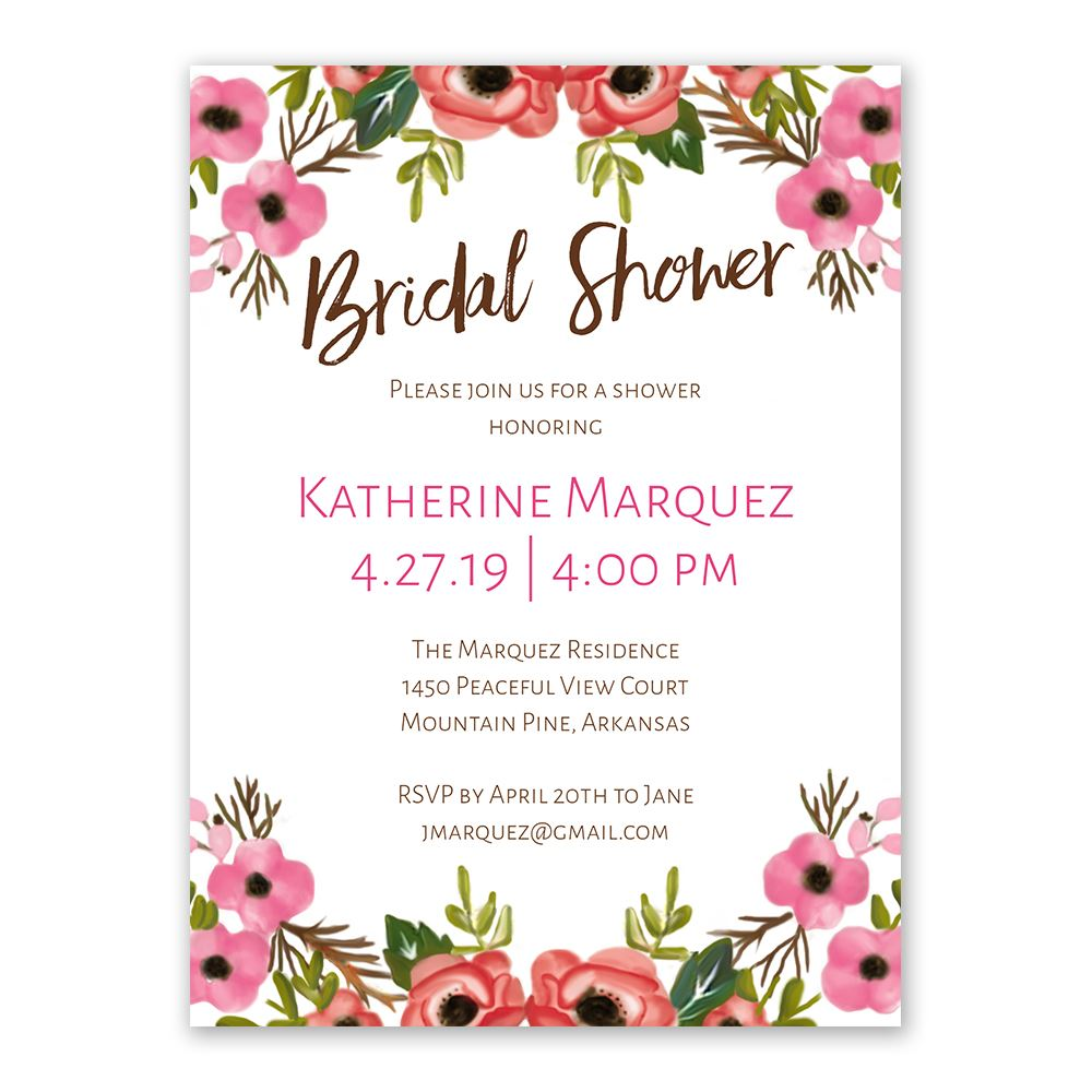 Blooming beauty bridal shower invitation ann 39 s bridal - Wedding bridal shower ...