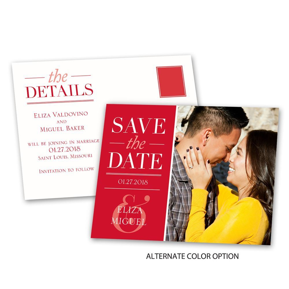 Modern Style Save the Date Postcard | Ann\'s Bridal Bargains
