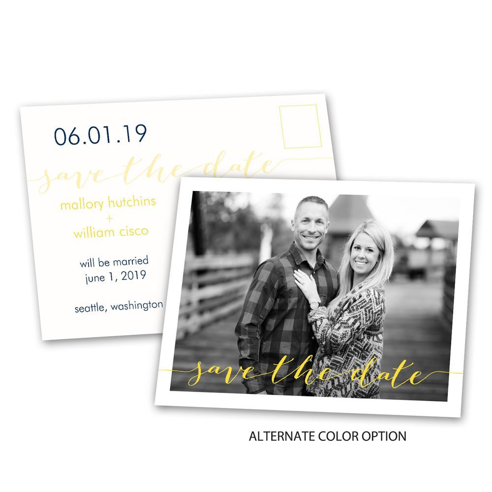 Photo Feature Save The Date Postcard Ann S Bridal Bargains
