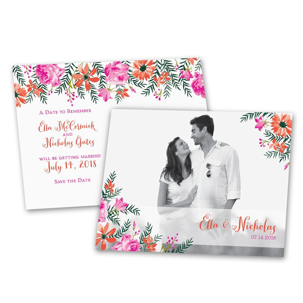 watercolor floral save the date postcard ann s bridal bargains