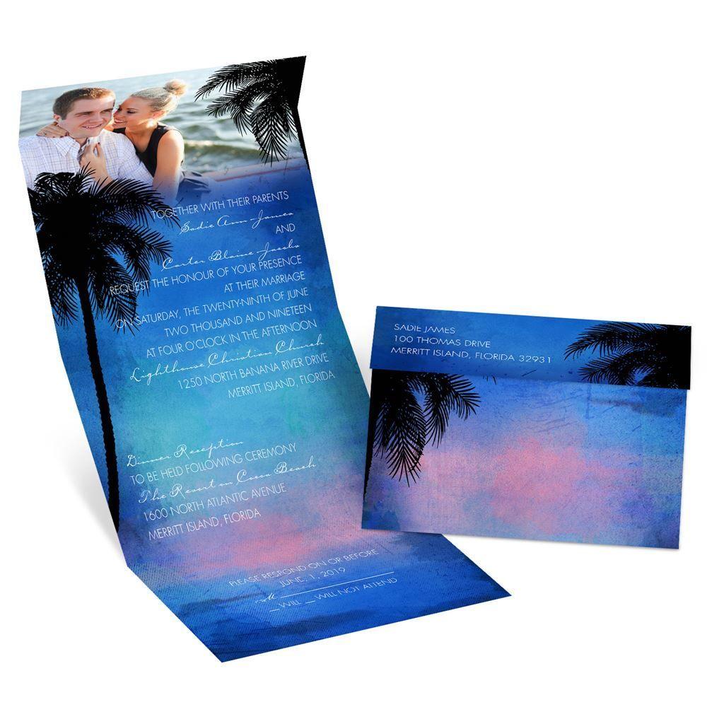 Tropical Paradise Seal And Send Invitation