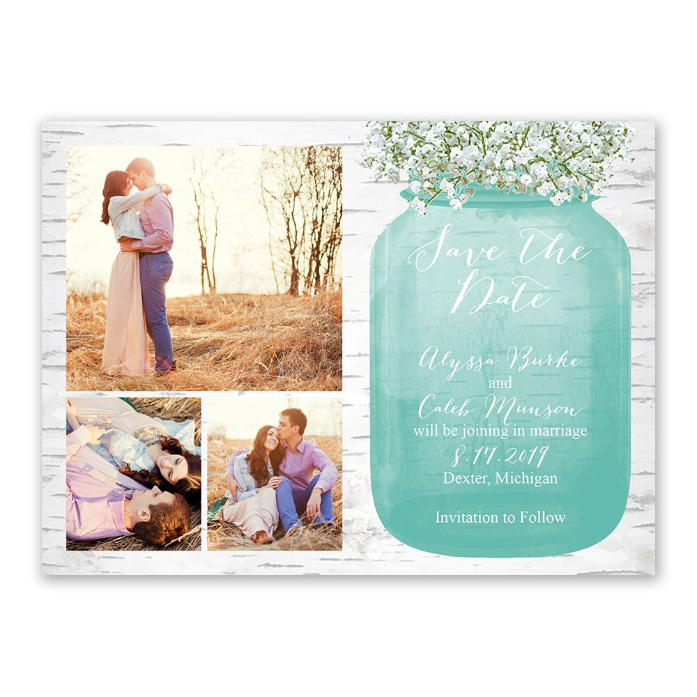 Babys Breath Save The Date Card Ann S Bridal Bargains