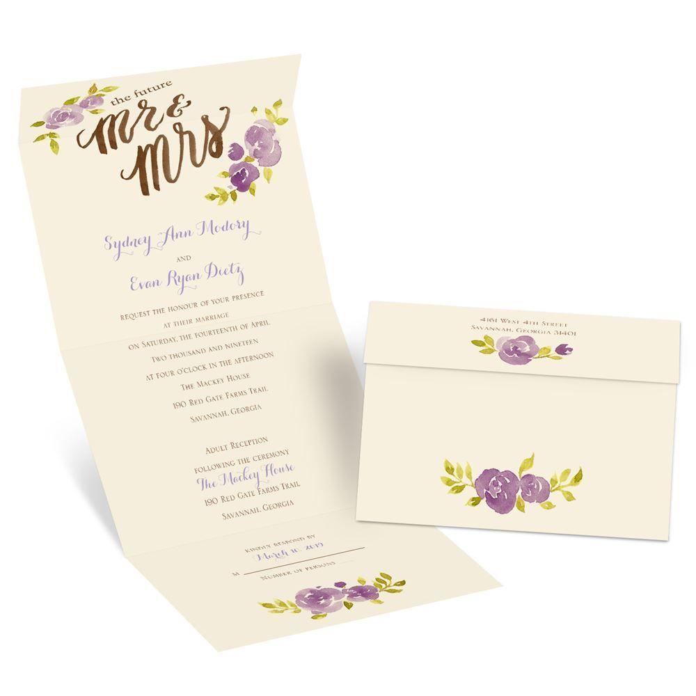 Future Mr. & Mrs. Seal and Send Invitation | Ann\'s Bridal Bargains