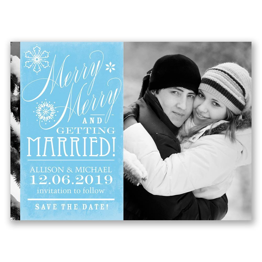 save the date holiday card