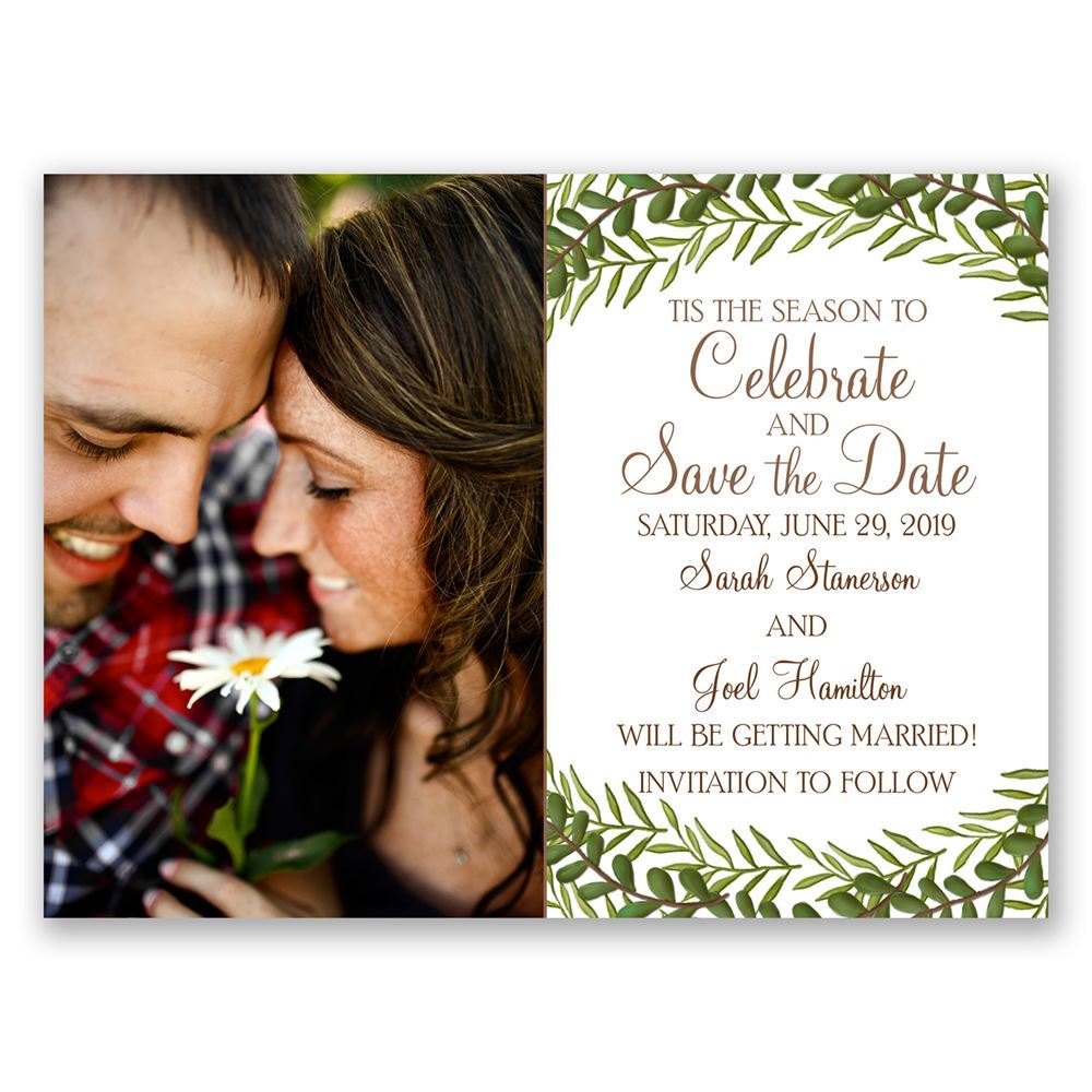 Tis the Season Holiday Card Save the Date | Ann\'s Bridal Bargains