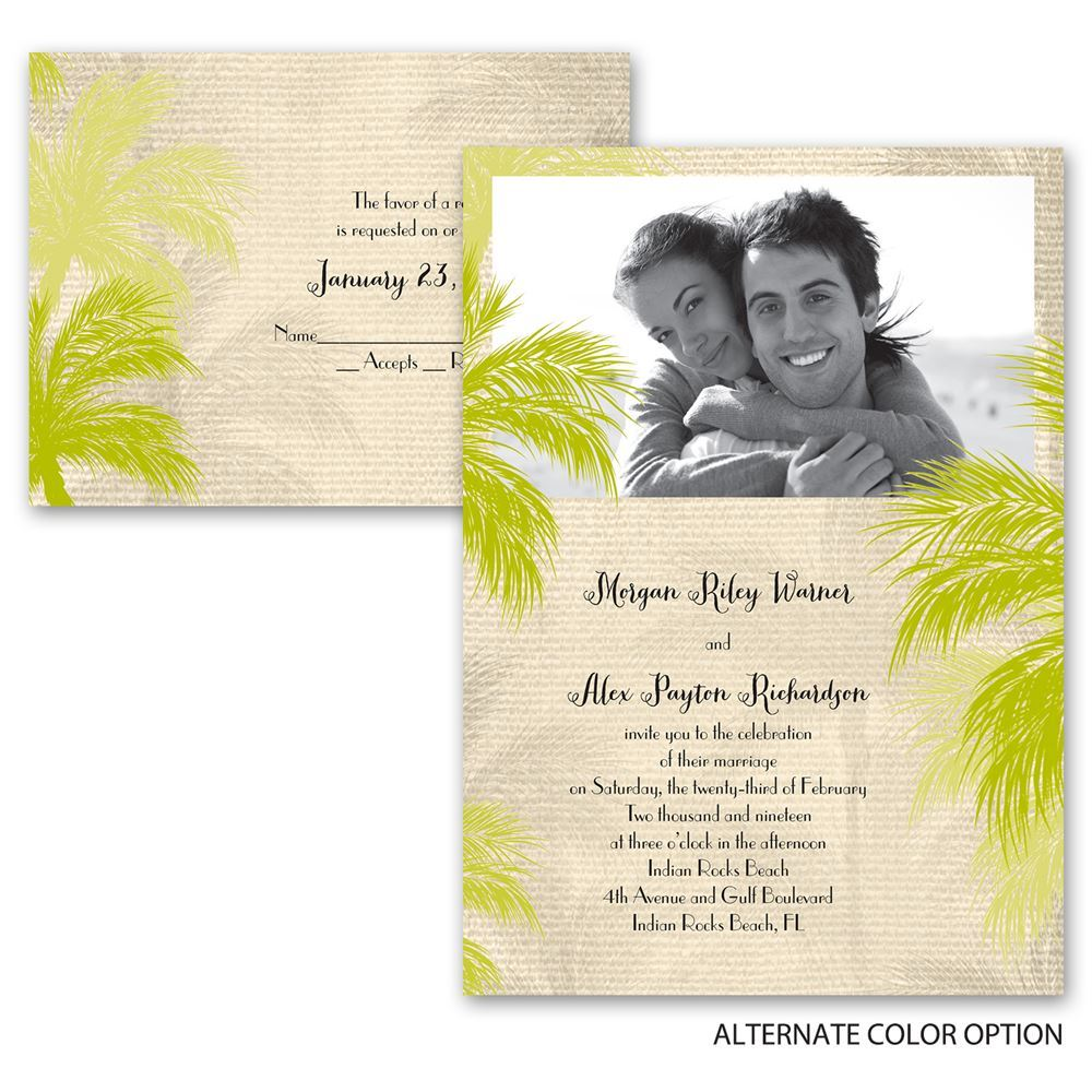 Island beauty all in one invitation anns bridal bargains island beauty all in one invitation stopboris Choice Image