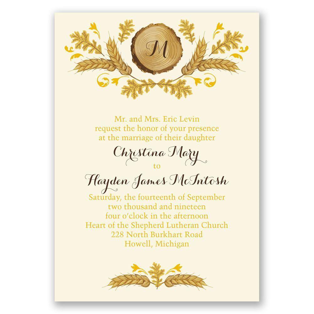 Post Card Wedding Invitations: Rustic Details Ecru Invitation With Free Respond Postcard