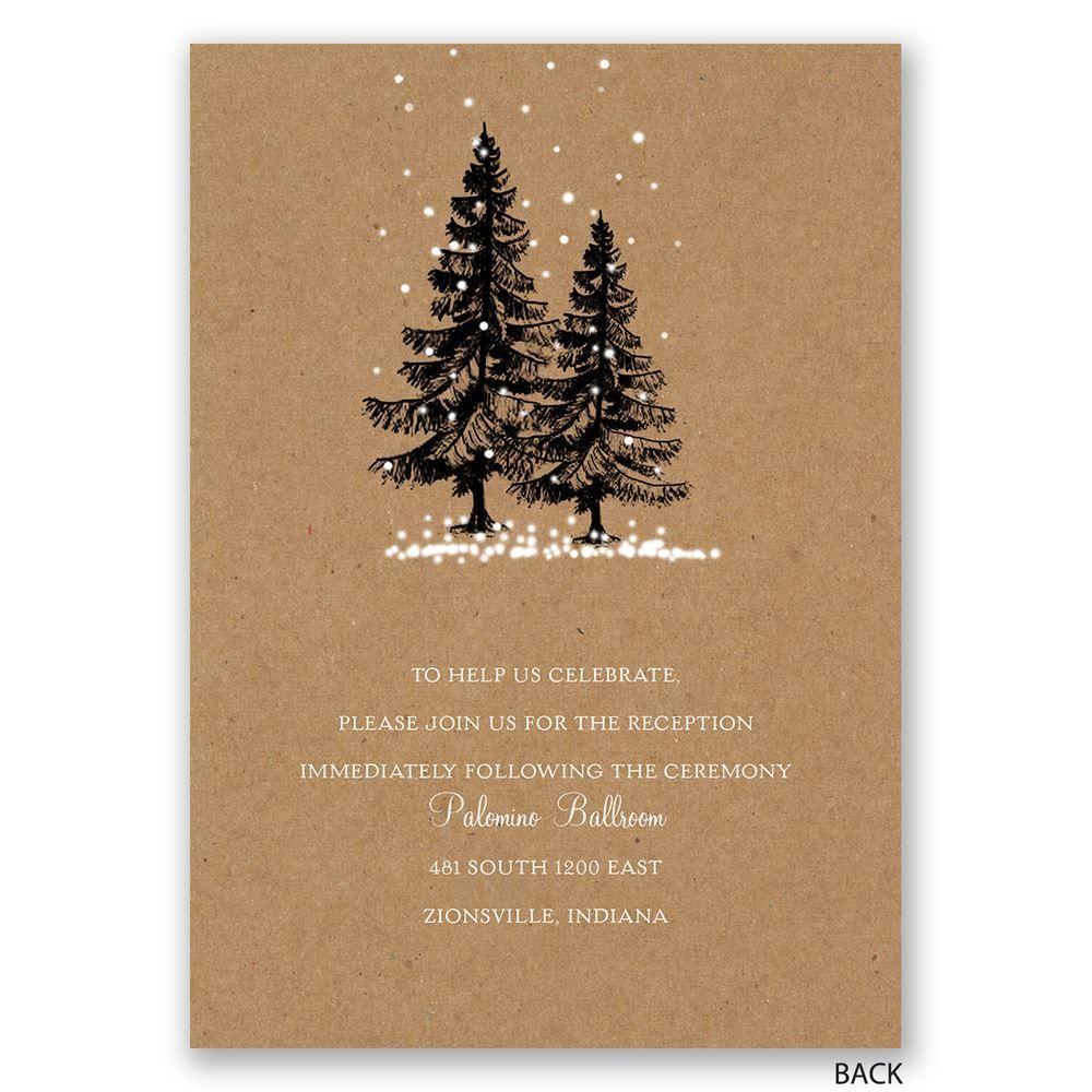 let it snow winter wedding invitation
