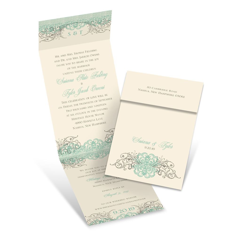 Beyond Beautiful Invitation with Online Reply | Ann\'s Bridal Bargains