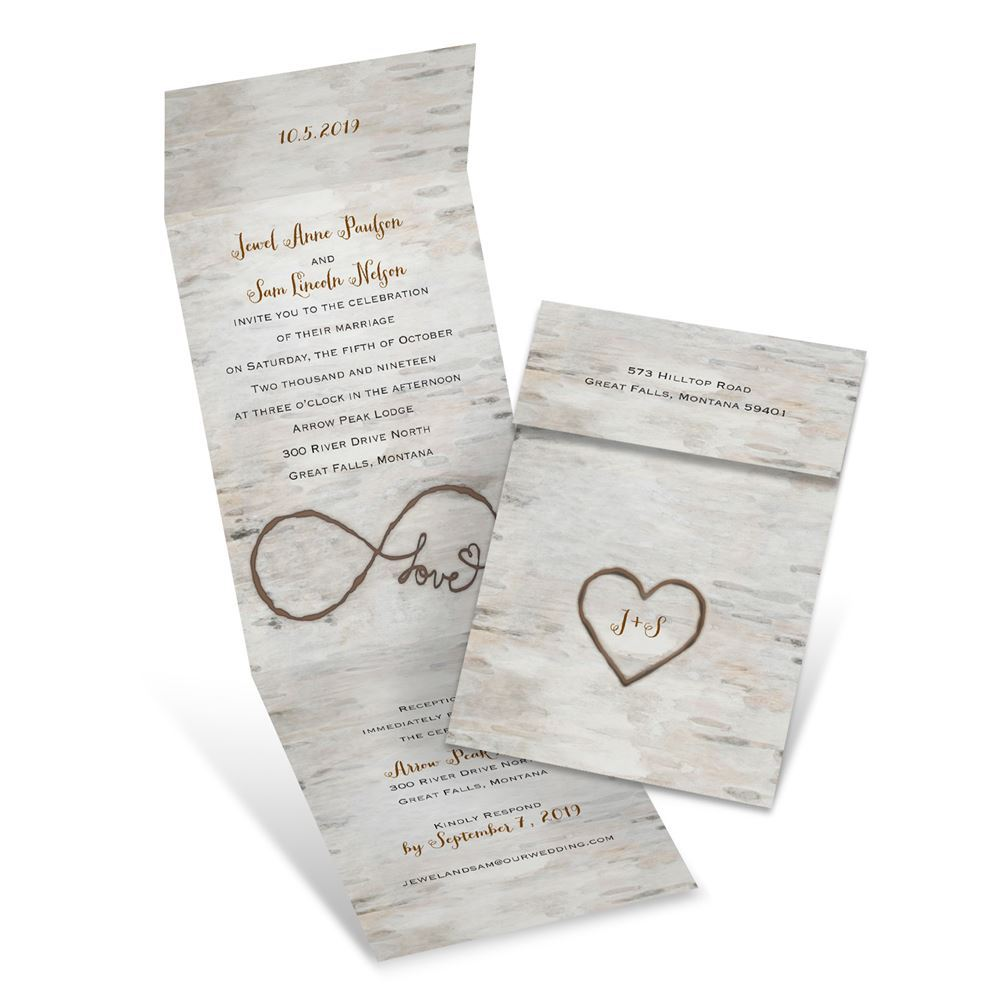 Birch Beauty Invitation With Online Reply