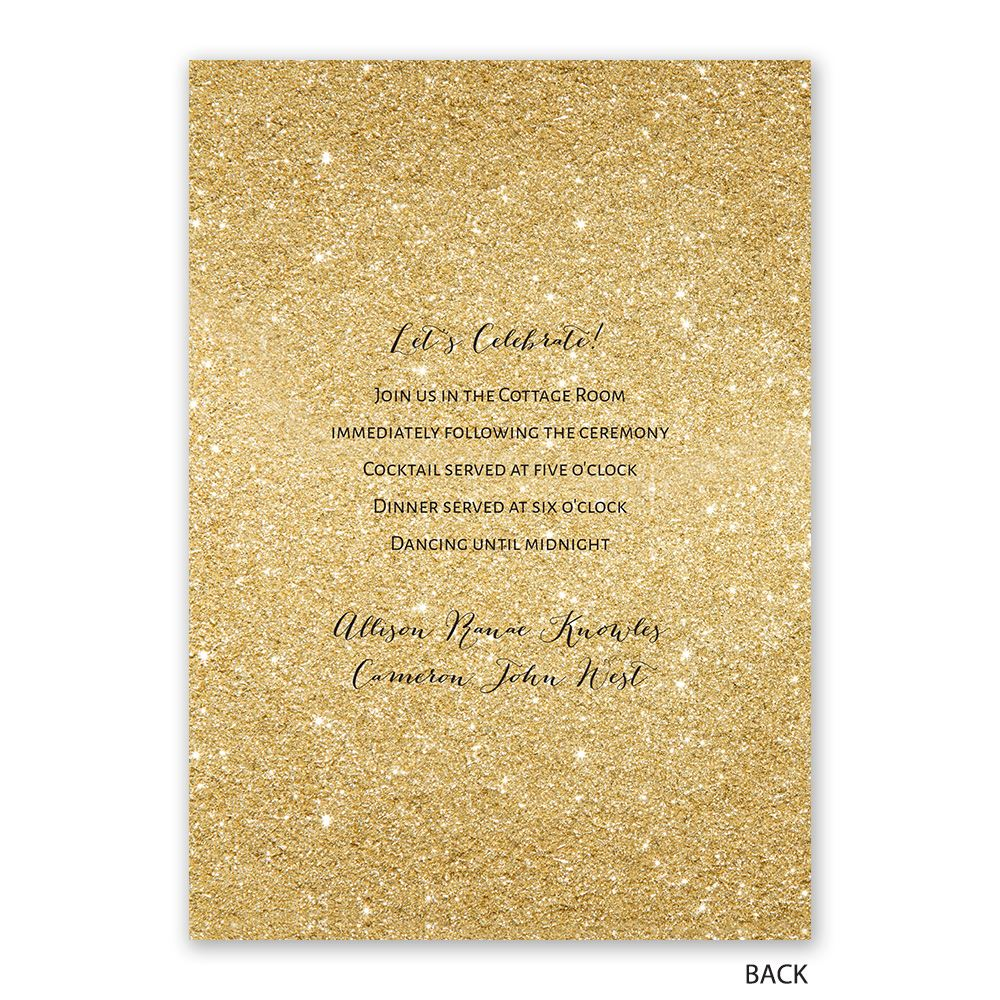 Glitter Illusion Invitation with Free Response Postcard   Ann\'s ...
