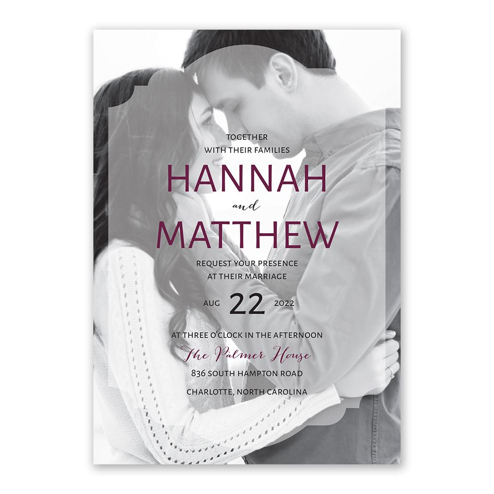 Wedding Invitation Postcard: Photo Screen Invitation With Free Respond Postcard
