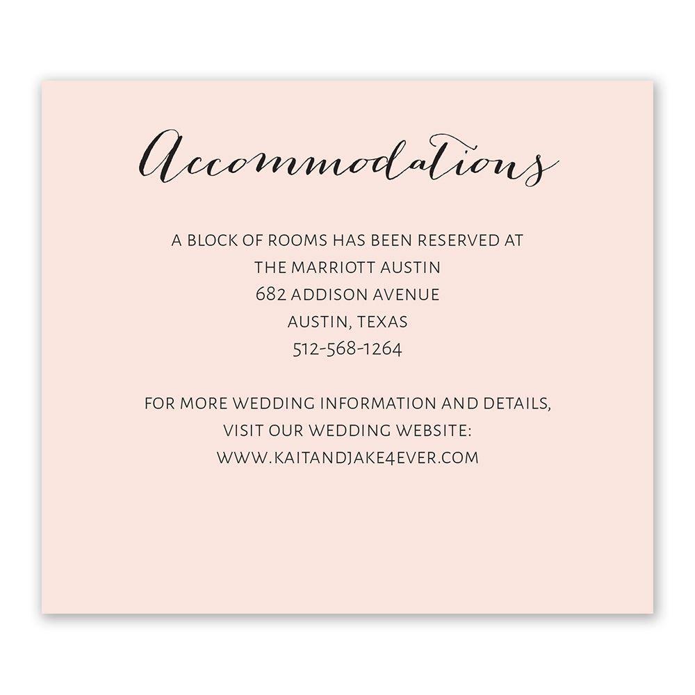 Minimalist Beauty Information Card